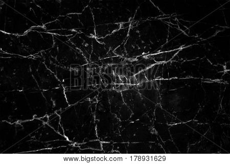 Black marble patterned texture background, Detailed genuine marble from nature.