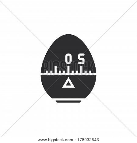 Kitchen Cooking Timer icon vector solid flat sign pictogram isolated on white logo illustration