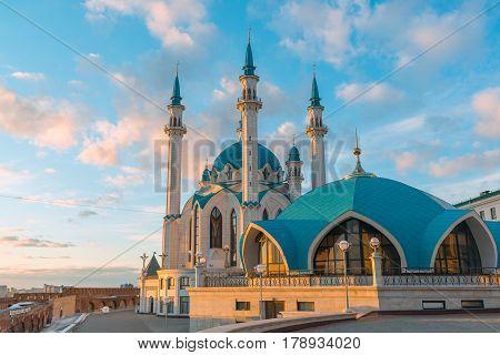 Kul-Sharif mosque in Kazan Kremlin in Tatarstan, Russia