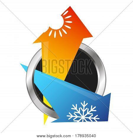 Symbol air conditioning and ventilation arrows design