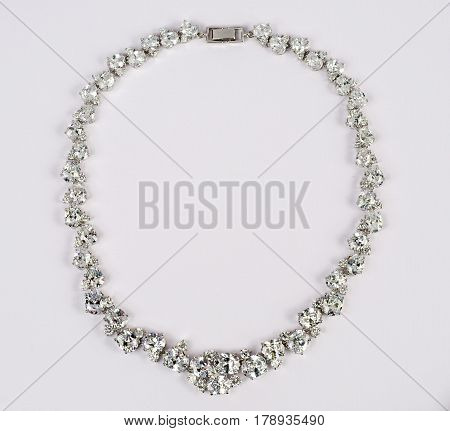 Beautiful necklace jewellery piece closeup macro shot