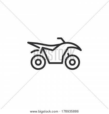 Quad bike line icon outline vector sign linear pictogram isolated on white. logo illustration