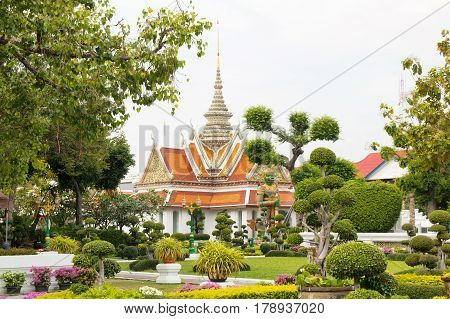 BANGKOK THAILAND - DECEMBER 10 2016: Buddhist Wat Arun Tample in Bangkok