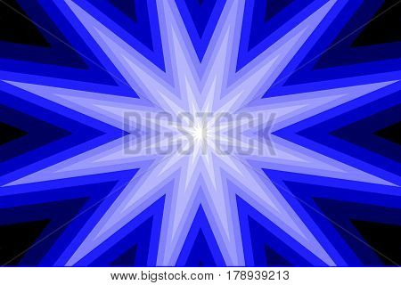 star - abstract geometric blue background ,