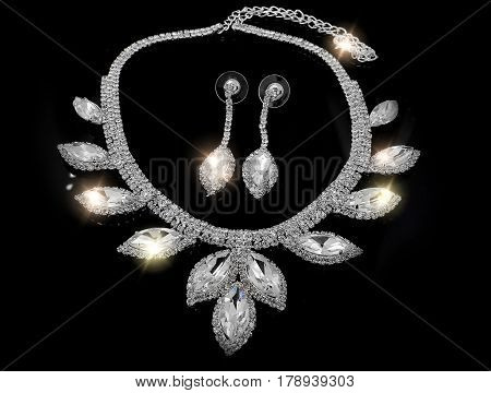 Luxury Jewelry Set - Necklace And Earrings