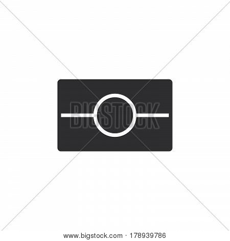 Biometric passport symbol. ePassport icon vector filled flat sign solid pictogram isolated on white logo illustration