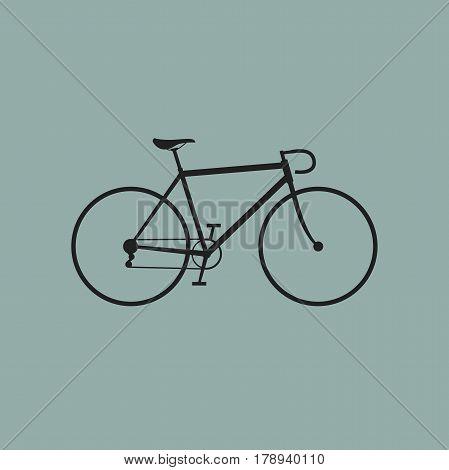 Bike icon on blue background. Vector illustration of bike.