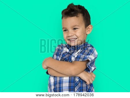 Little Boy Folding Arms Smiling