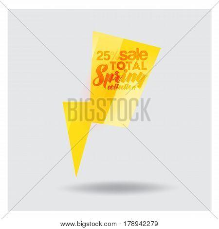 Big Sale Banner. lightning Vector Illustration Bright lighting