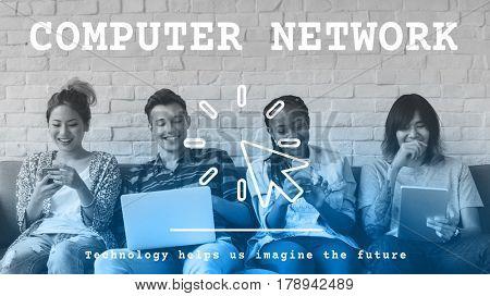 Computer Network Modern Technology Concept