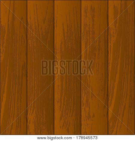 Five orange wooden parquet and laminate pieces