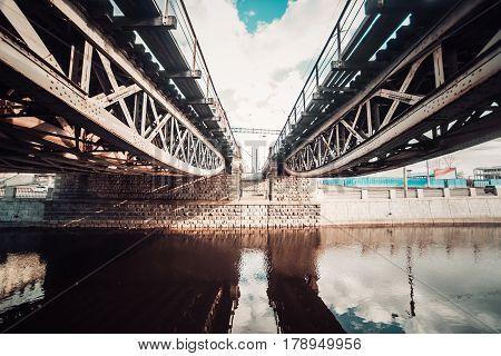 Mirror Channels Of St. Petersburg