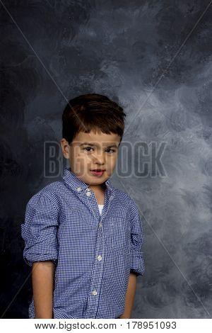 little boy in pose