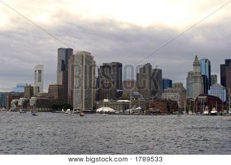 Boston Waterfront Skyline