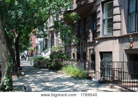 Escena de la calle de la ciudad de Manhattan