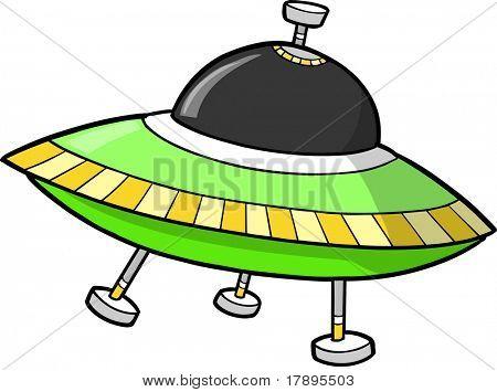 Flying Saucer UFO Vector illustration
