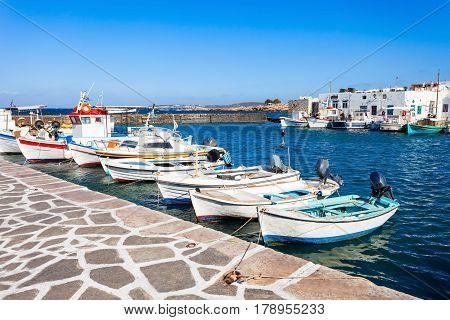 Boats In Paros Port