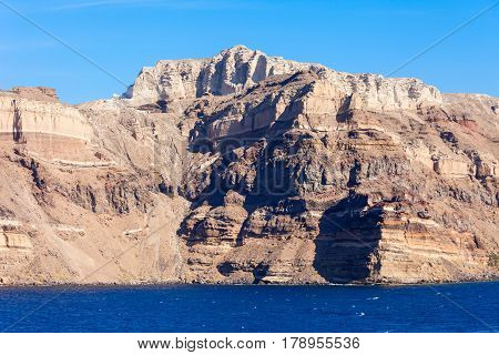 Mountains On Santorini Island