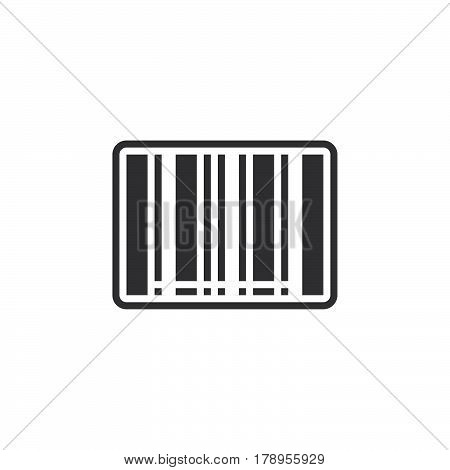 barcode icon vector filled flat sign solid pictogram isolated on white logo illustration