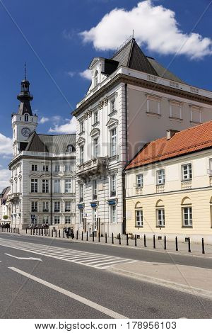 Sights Of Poland. Warsaw Old Town Hall.