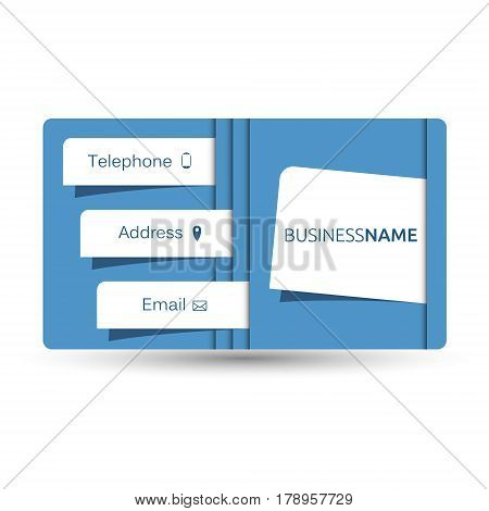 A business card is a unique layout for the company
