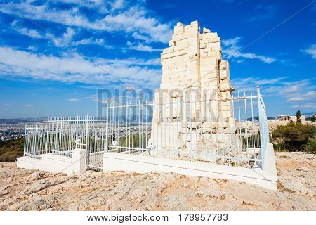 Philopappos Monument In Athens