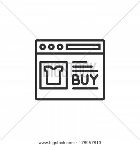 Online shop line icon outline vector sign linear pictogram isolated on white. logo illustration