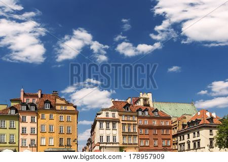 Sights of Poland. Warsaw Old Town .