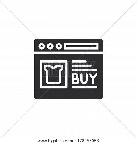 Online shop icon vector filled flat sign solid pictogram isolated on white logo illustration