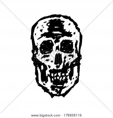 Scary grim skull. Horror character. Creepymask. Vector illustration
