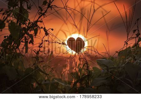 Sunset in Campo Magro. Campo Magro in the Metropolitan Region of Curitiba is located to the northwest of the Region. City of the State of Paraná Brazil.
