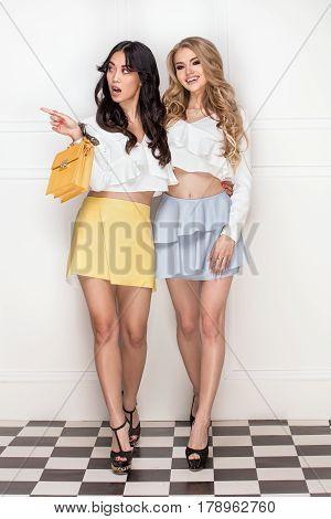 Two Adorable Girls Posing.