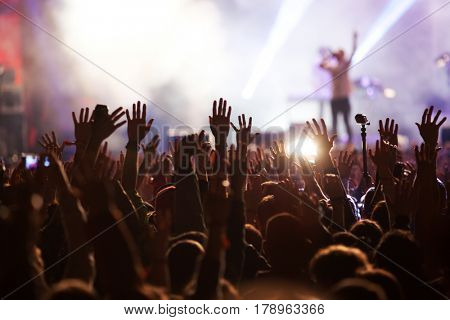 crowd at concert - summer music festival poster