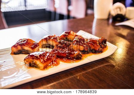 Grilled unagi teriyaki rice japanese food style