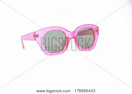 Fashionable sunglasses on white background