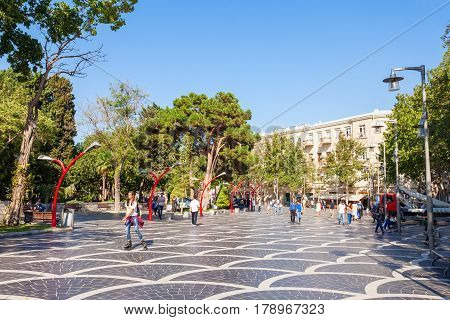 Fountains Square In Baku