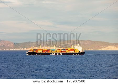 Container Ship Or Cargo Ship
