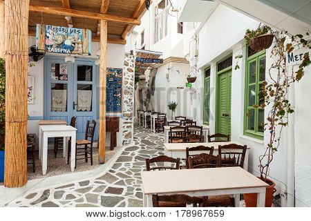 Restaurant In Naxos, Greece