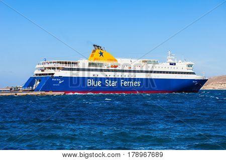 Blue Star Ferry, Greece