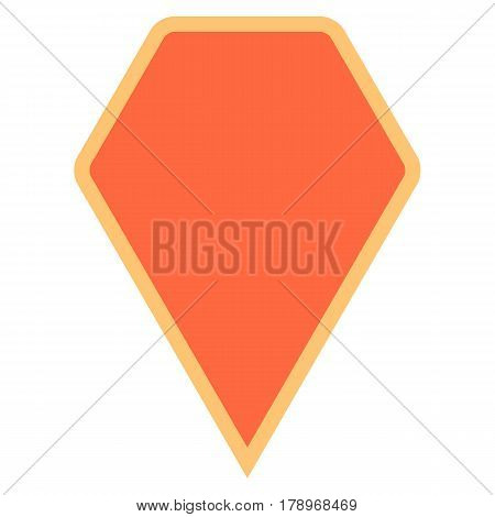 Quick and easy recolorable hexagon shape isolated from background. Flat map pin sign location icon web internet cartography button. Vector illustration a graphic element for design.