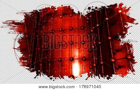 3d abstract technology background