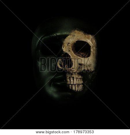 skulls , skulls on the black background