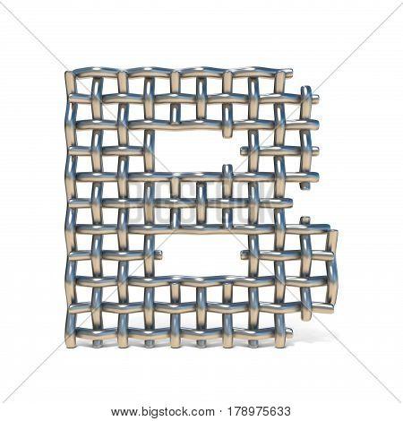 Metal Wire Mesh Font Letter B 3D