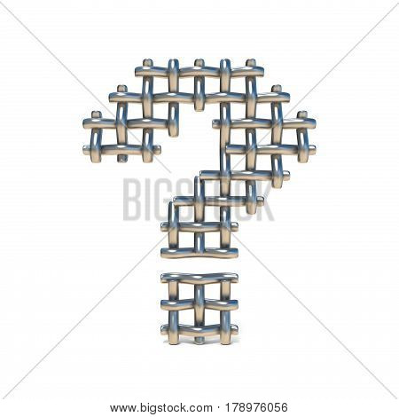 Metal Wire Mesh Font Question Mark 3D