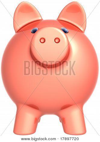 Face of piggy bank