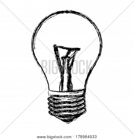 sketch of incandescent light bulb vector illustration