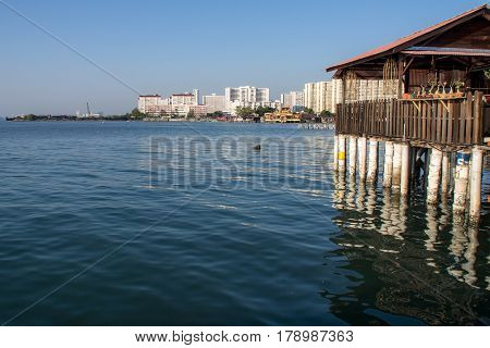 Seaview from the Chew Jetty of Penang