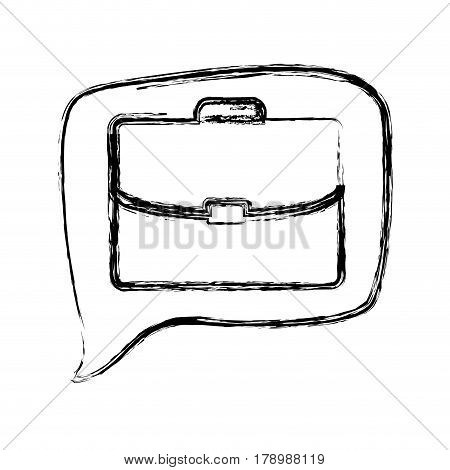 figure square chat bubble with briefcase inside