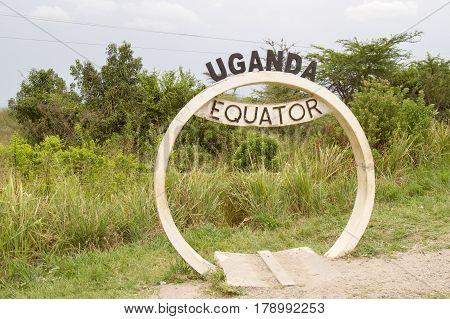 Equator Banner Sign In Uganda