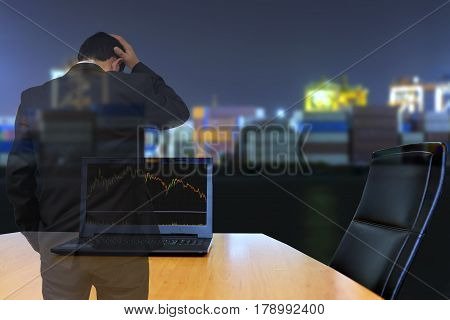 Double exposure of  Businessman . photo for Business concept.